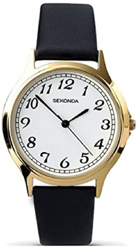 3134 Sekonda Round Watch Men's With A Really Clear Dial White Dial With Black Arabic Numbers